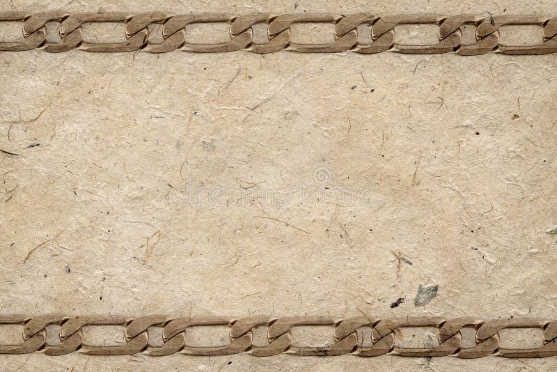 Download Handmade paper stock illustration. Image of macro, chain - 20644322