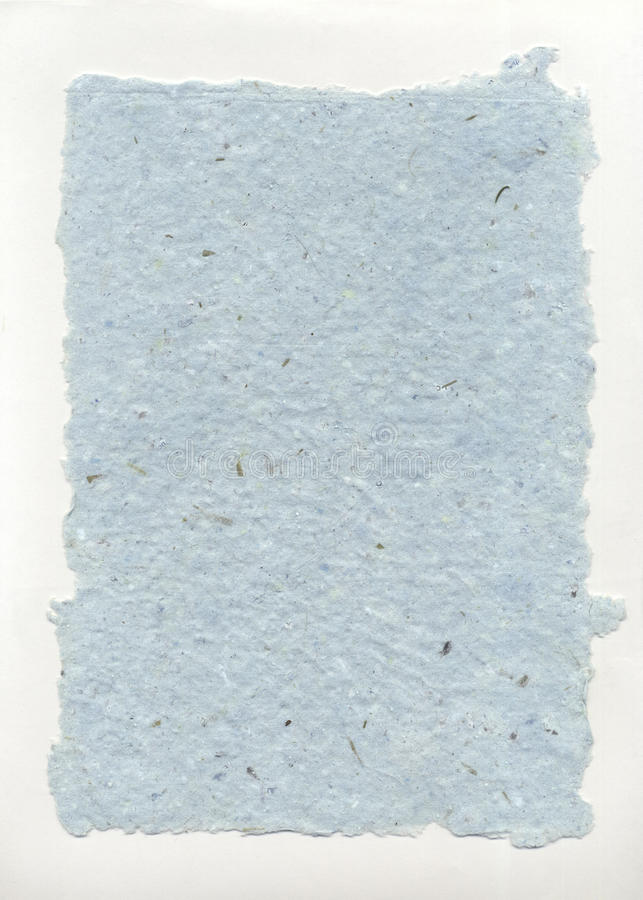Handmade Paper Aqua Ragged royalty free stock photography