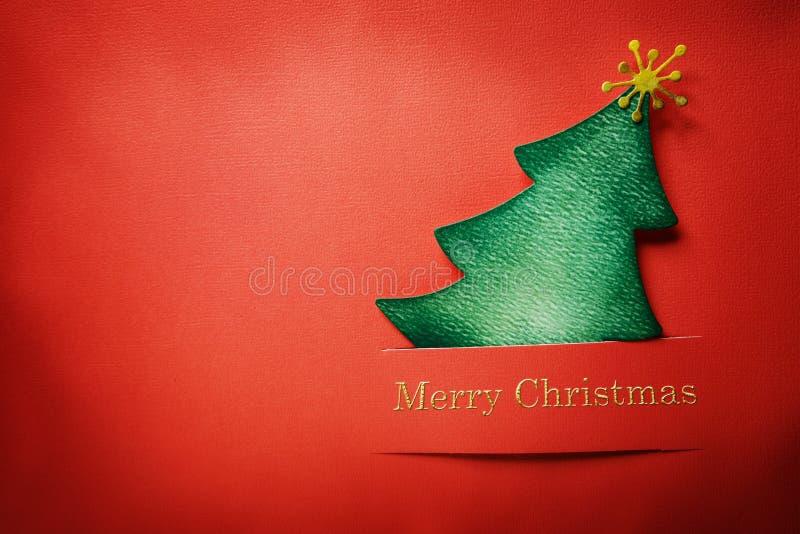 Handmade paper craft Chrsitmas tree royalty free stock photography