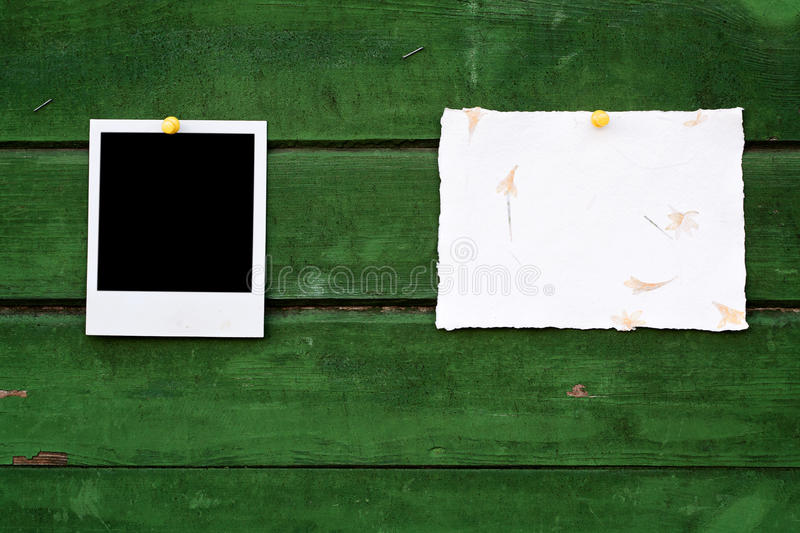 Handmade Paper And Instant Photo Royalty Free Stock Image