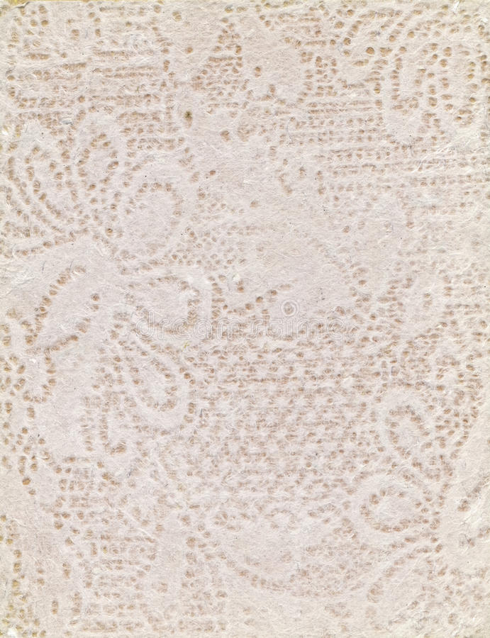 Handmade Paper with Peack Floral Pattern stock photos