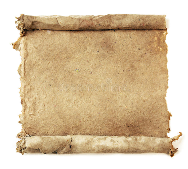 Download Handmade paper scroll stock photo. Image of parchment - 16567846