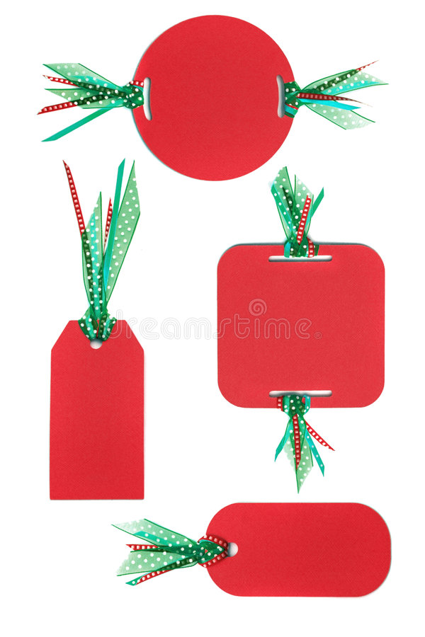 Download Handmade Paper Tags With Colorful Ribbon Stock Illustration - Illustration: 7089598