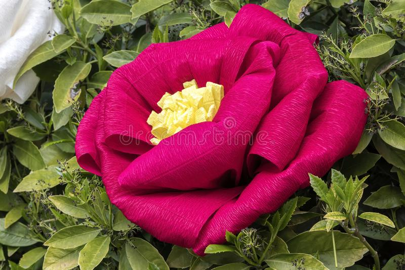 Handmade papier mache flowers. Beautiful handmade papier mache flowers stock photos
