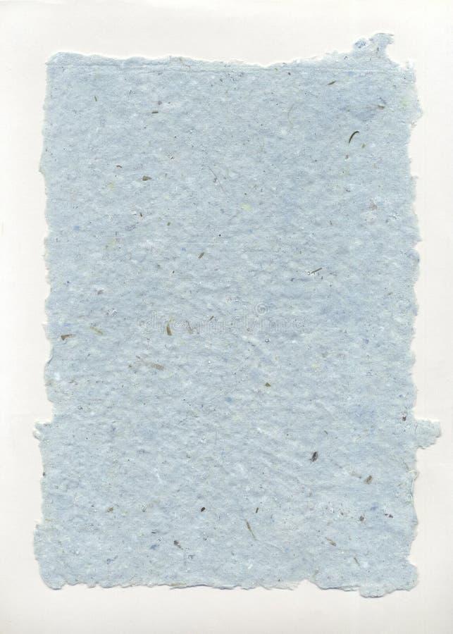 Handmade papieru Aqua Obszarpujący fotografia royalty free