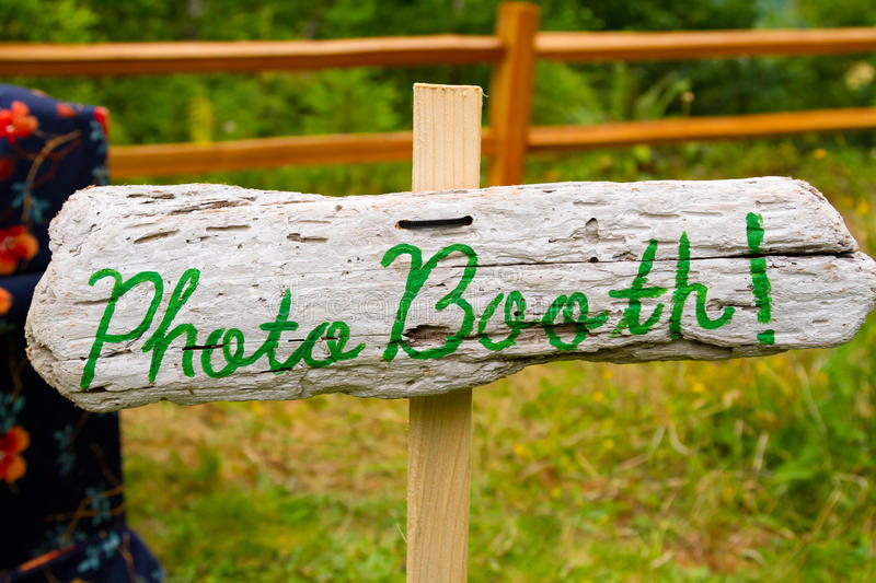Handmade Photo Booth Sign stock photography
