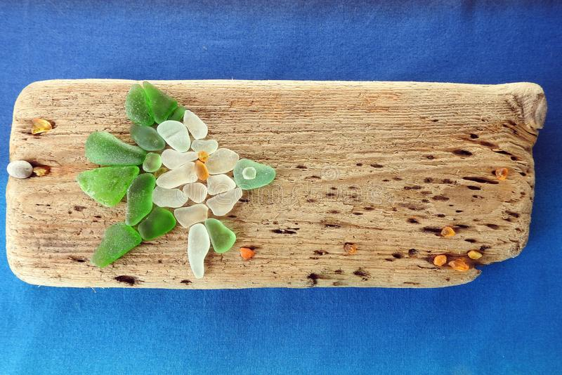 Handmade picture - fish on wooden surface, Lithuania royalty free stock photo