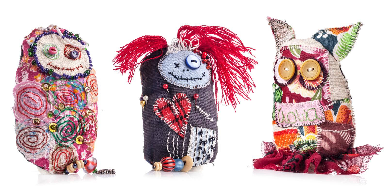 Handmade rag doll royalty free stock photo