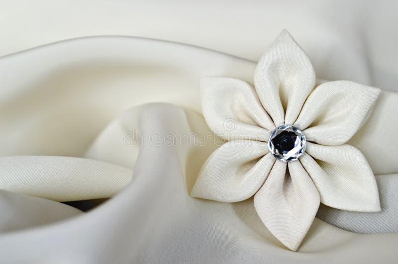 Handmade silk fabric flower on satin background stock image image download handmade silk fabric flower on satin background stock image image of background flower mightylinksfo