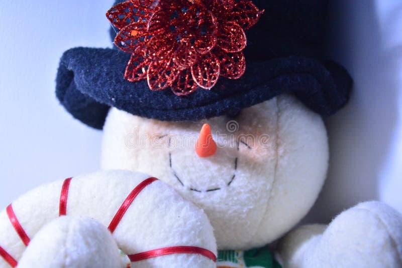 Handmade snowman royalty free stock image