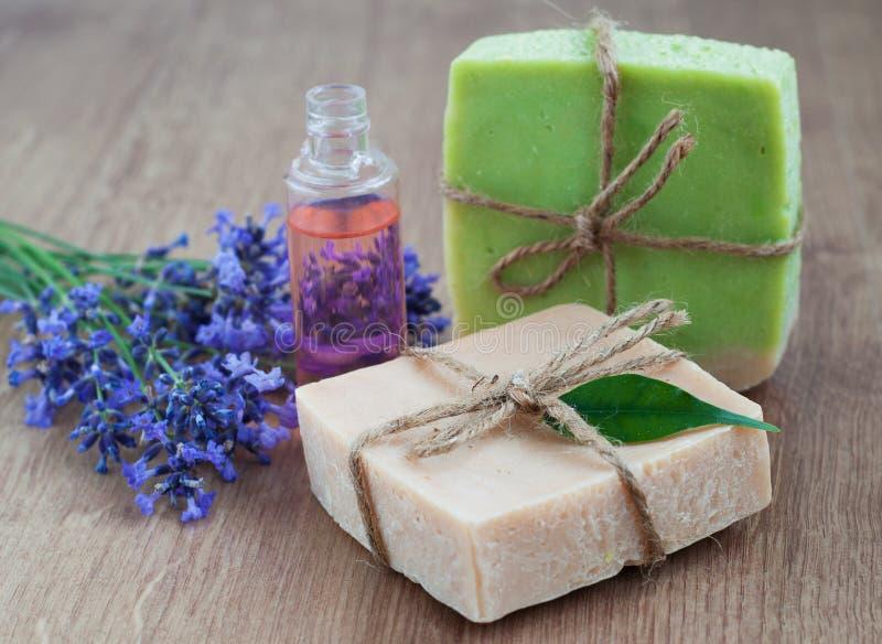 Handmade soap stock image