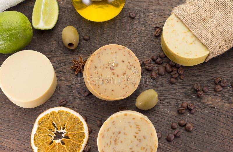 Handmade soap. stock photo