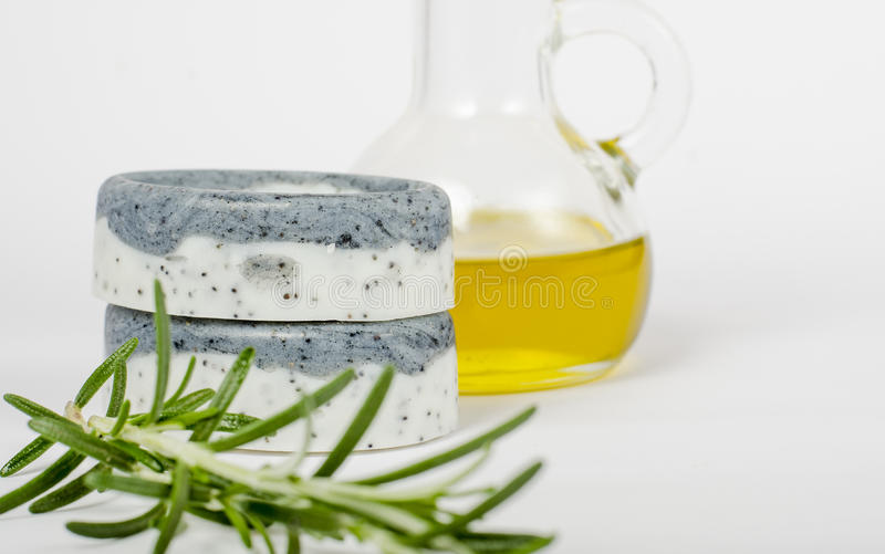 Handmade soaps isolated royalty free stock images