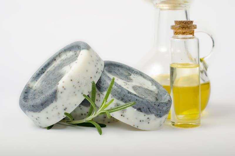 Handmade soaps isolated stock image