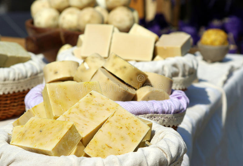 Handmade soaps stock photography