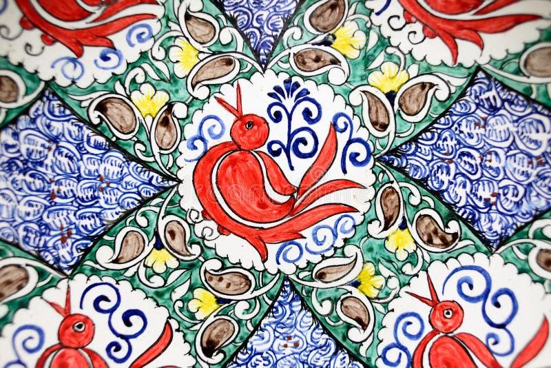 Handmade souvenirs from Central Asia, Fergana, Uzbekistan, Silk Route. Handmade colourful ceramic pottery  selling at street stall in Rishton, Uzbekistan, silk stock image