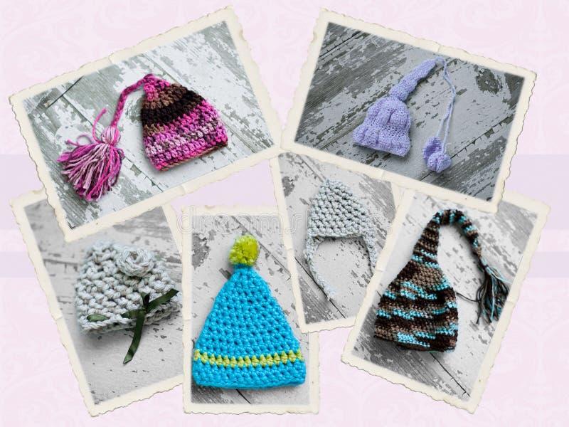 Handmade szydełkowy kapelusz zdjęcia stock