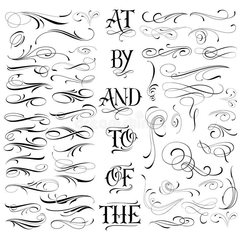 Handmade tattoo set stock illustration