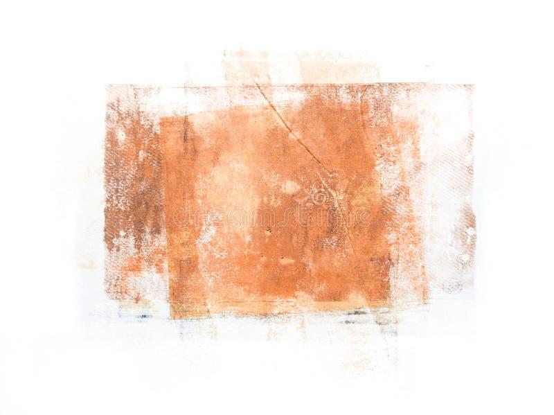 Handmade tekstury łata Odizolowywająca na Białym tle fotografia royalty free