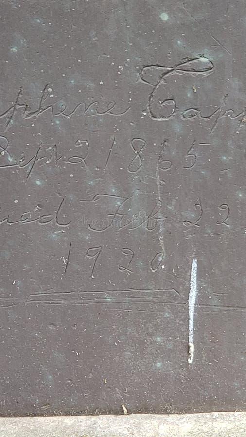 Handmade tombstone royalty free stock photography