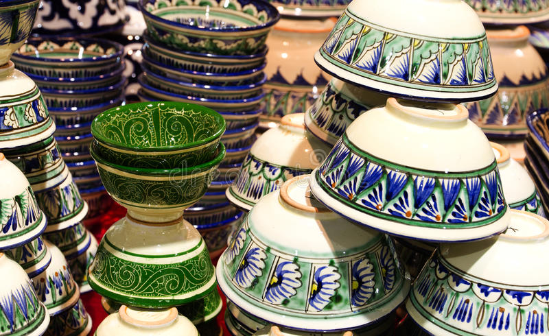 Download Handmade Traditional Crockery Stock Image