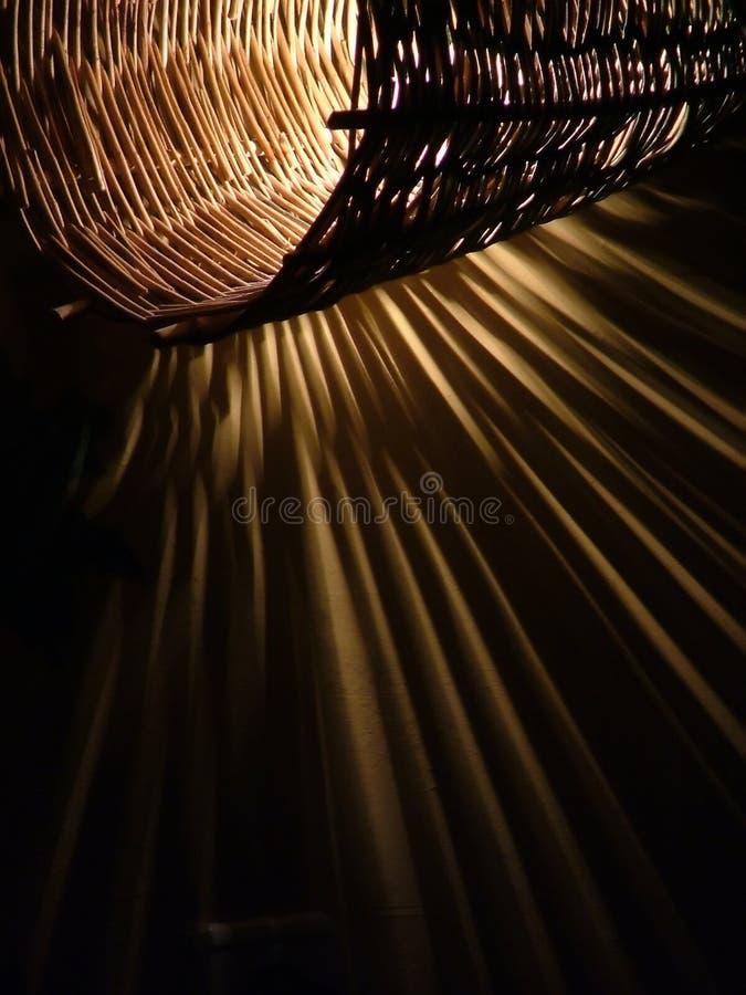 Handmade twig lamp stock photography