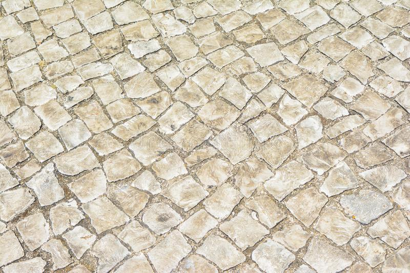 Handmade typical portuguese cobblestone stock photo