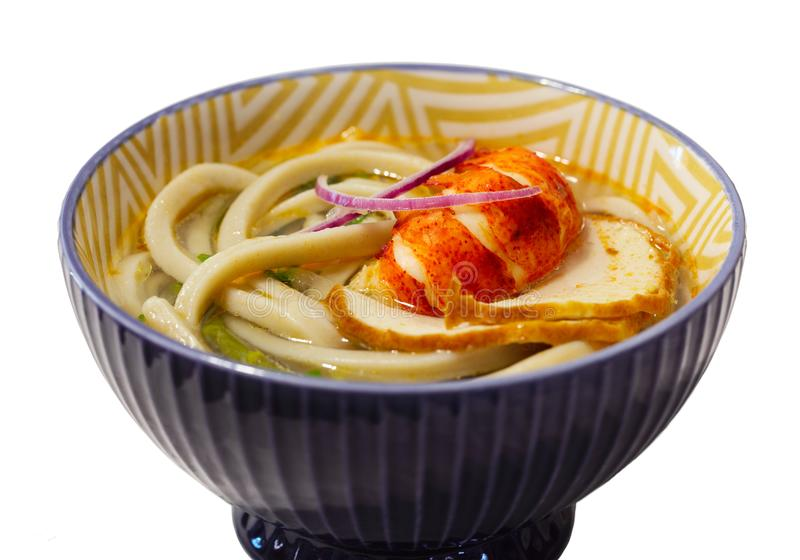 Udon Lobster Soup stock photography