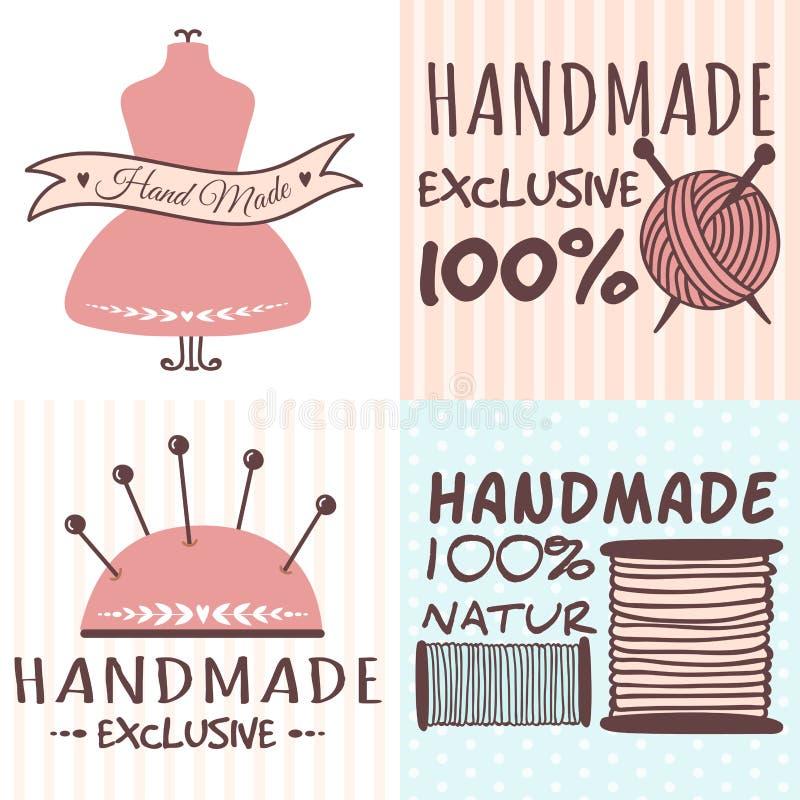 Handmade uszycia rzemiosła odznaki szy sztandary ilustracji