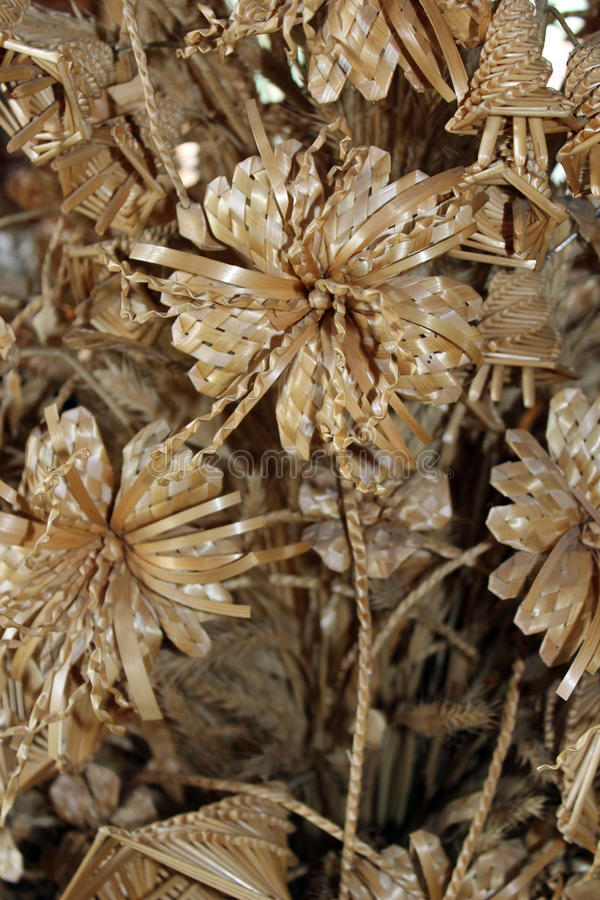 Handmade - Weaving Of Straw Royalty Free Stock Photo