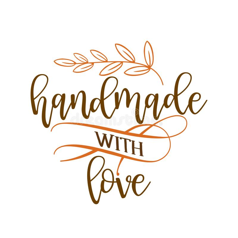 Free Handmade With Love - Stamp For Homemade Products And Shops. Royalty Free Stock Photo - 161752285
