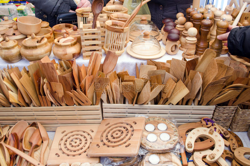 Attrayant Download Handmade Wooden Kitchen Utensil Tools Bazaar Fair Stock Image    Image Of Handmade, Market