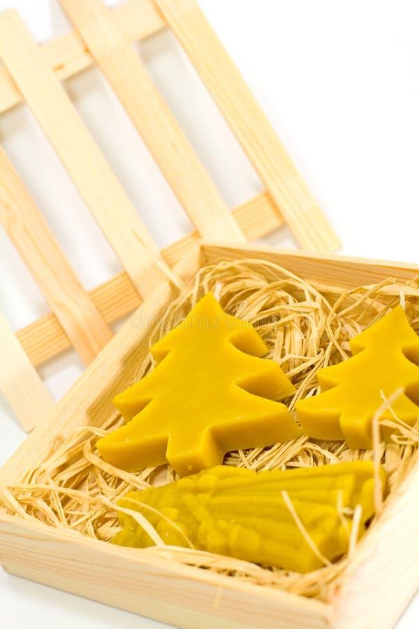 Download Handmade Yellow Christmas Candles Stock Photo - Image: 6961568