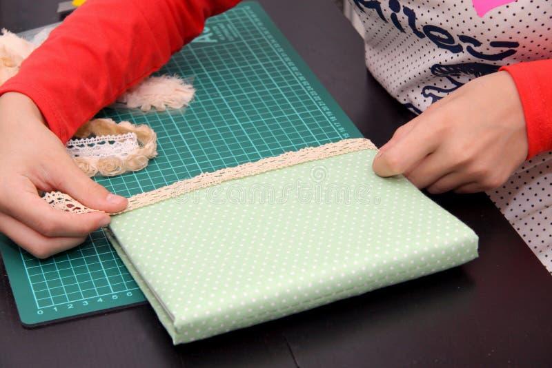 Handmade z tkaninami i koronką fotografia stock