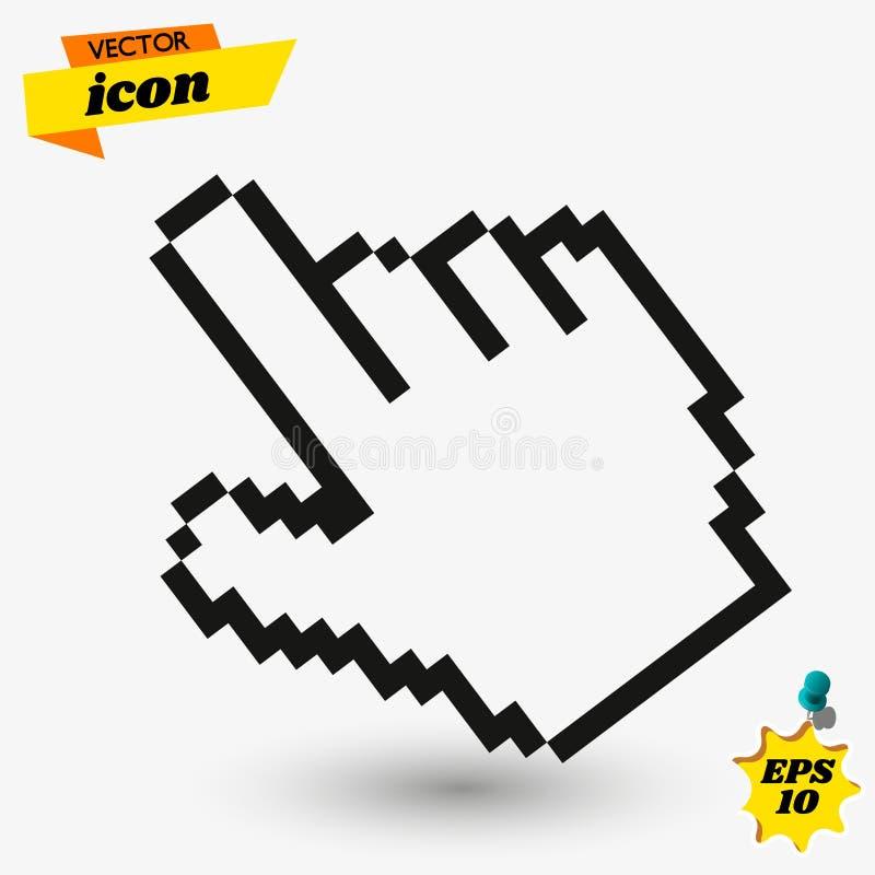 Handmarkörsymbol i moderiktig plan stil f?r illustrationsk?ld f?r 10 eps vektor arkivbild