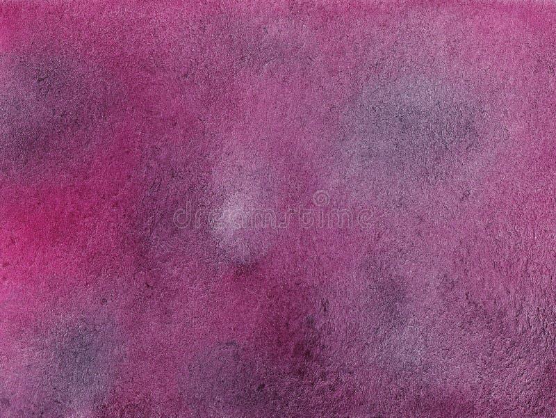 Handmaserte gezogene Aquarellzusammenfassung rosa und schwarzen und grauen Hintergrund lizenzfreie abbildung