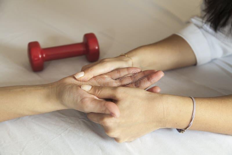 Handmassage stockbilder