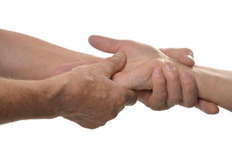 Handmassagenahaufnahme lizenzfreie stockfotos