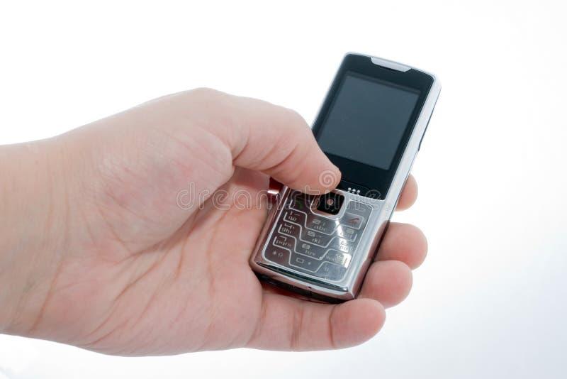 handmobiltelefon royaltyfria bilder