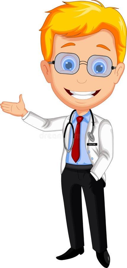 Handome lekarki kreskówki przedstawiać ilustracji