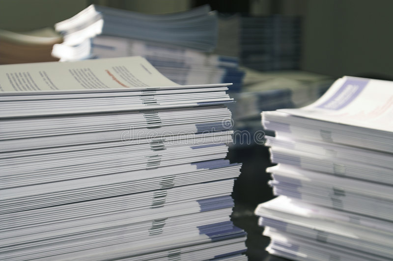 Handout Paper Piles royalty free stock photo