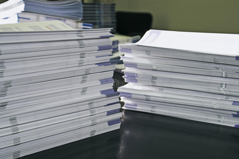 Download Handout papers stock photo. Image of forms, desk, files - 14708088
