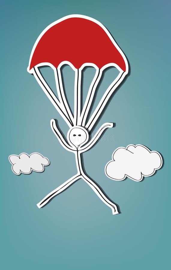 Skydiver иллюстрация вектора