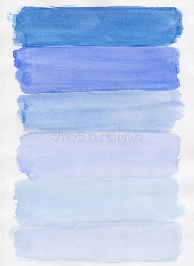 Handpainted blue watercolor royalty free stock photography