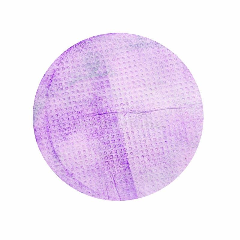Handpainted Grungepapper i ellipsformiga Shape som isoleras på vit B royaltyfri bild