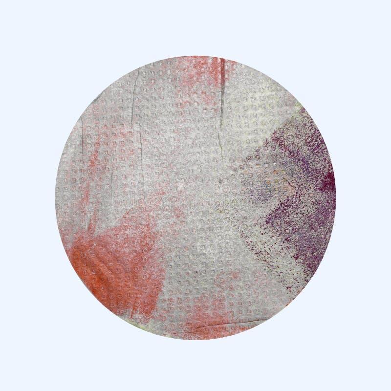 Handpainted Grungepapper i ellipsformiga Shape som isoleras på vit B arkivbilder