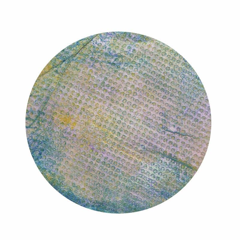 Handpainted Grungepapper i ellipsformiga Shape som isoleras på vit B royaltyfria bilder