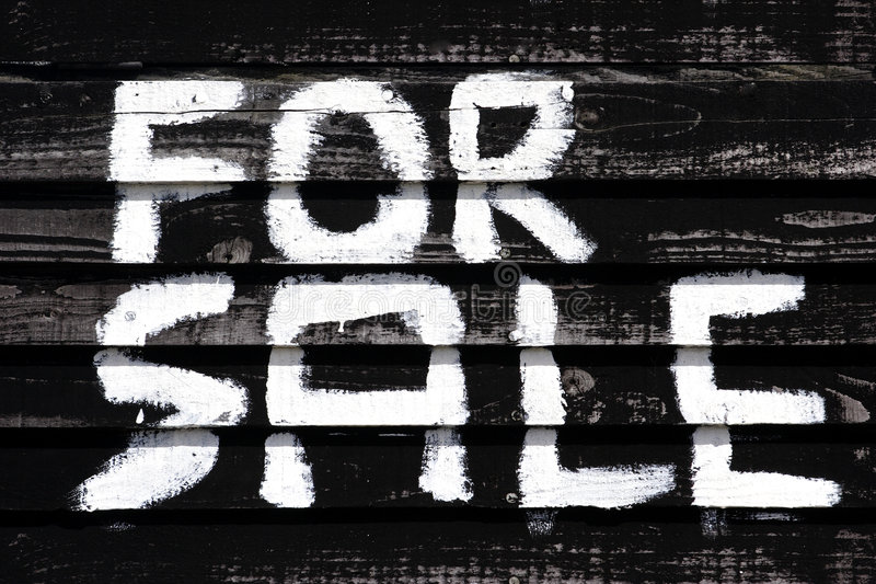 Handpainted for sale sign royalty free stock photography