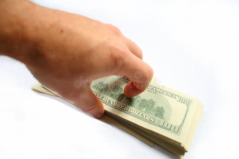 handpengar arkivfoto
