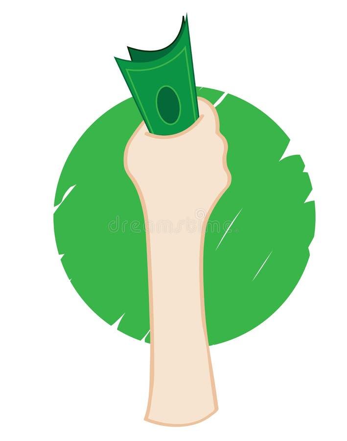 Handpengar stock illustrationer